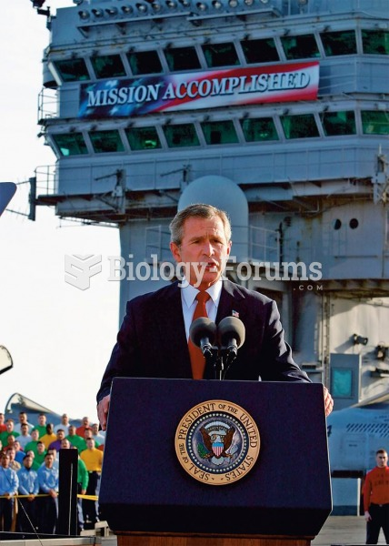 """Mission Accomplished"" proclaimed the banner on the USS Abraham Lincoln, where on May 1, 2003, Presi"