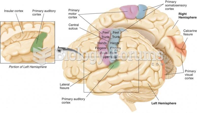 The Primary Sensory Regions of the Brain
