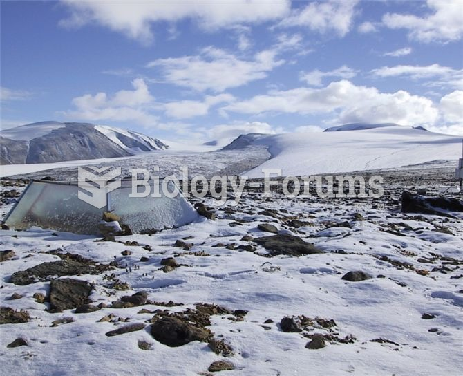 Open-top chambers, such as the one pictured above in a polar desert on Ellesmere Island, are commonl