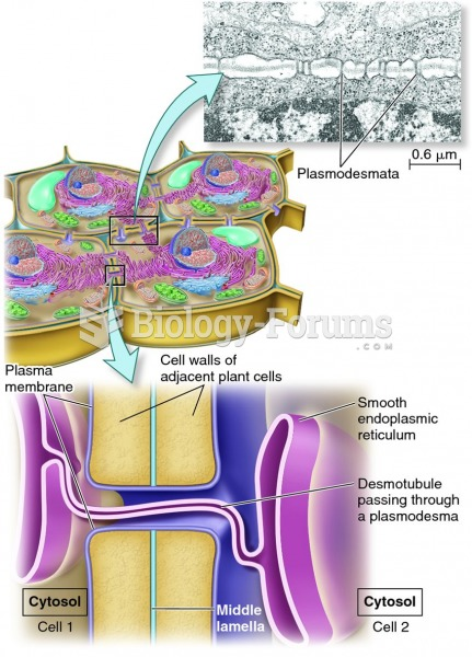 Structure of plasmodesmata