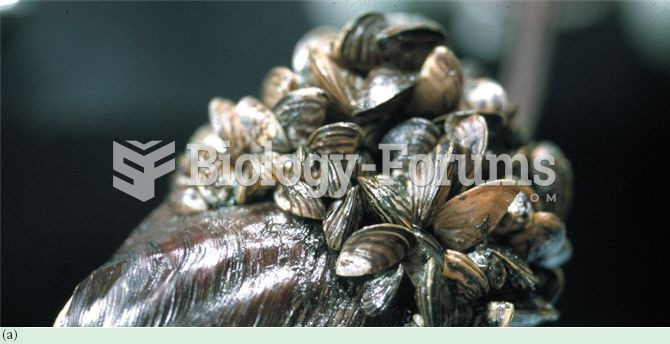 Invasive species in Canada include (a) zebra mussels, Dreissena polymorpha, (b) sea lamprey, Petromy