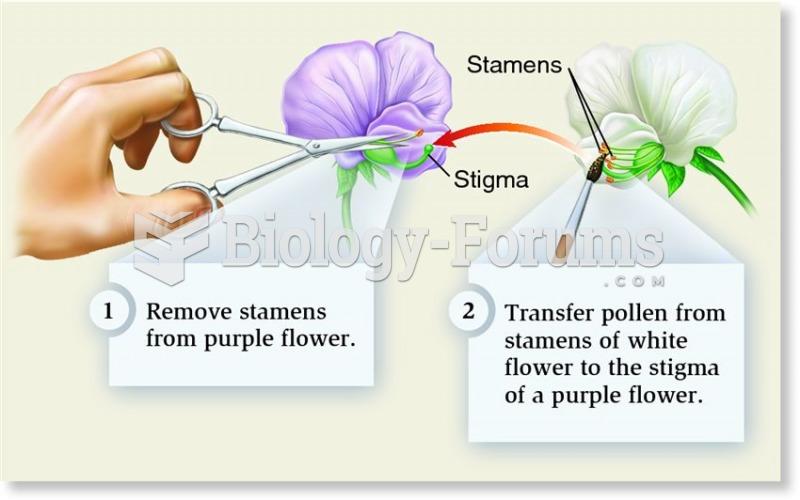 Mendel's procedure for cross-fertilizing pea plants
