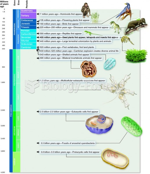 The geological timescale and an overview of the history of life on Earth