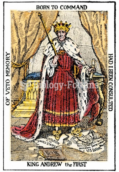 """A cartoon of """"King Andrew the First"""" shows Jackson standing atop the U.S. Constitution—a scepter in"""