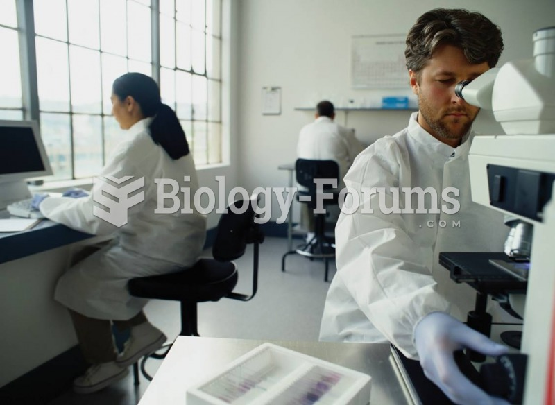 A medical lab technician.