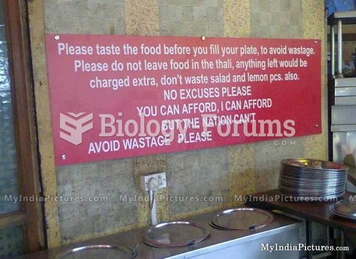Notice Board in Restaurent