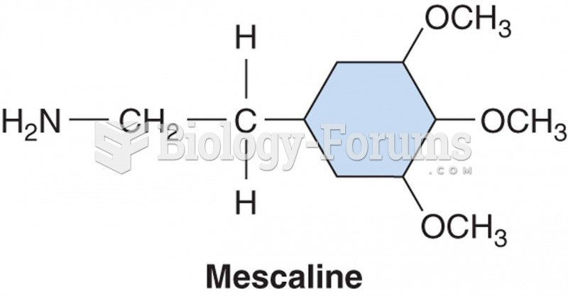 11.2   The chemical structure of mescaline, derived from the peyote cactus