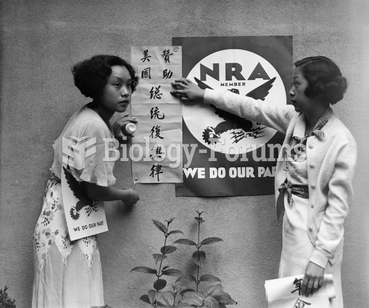 Constance King and Mae Chinn hang an NRA poster—including a Chinese translation—encouraging ...