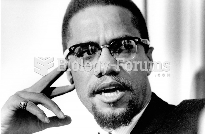 Malcolm X in a photo taken a week before his assassination.