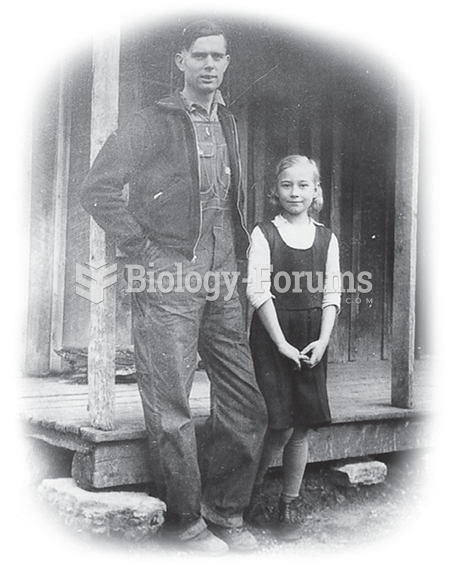 This January 1937 photo from Sneedville, Tennessee, shows Eunice Johns, age 9, and her husband, ...