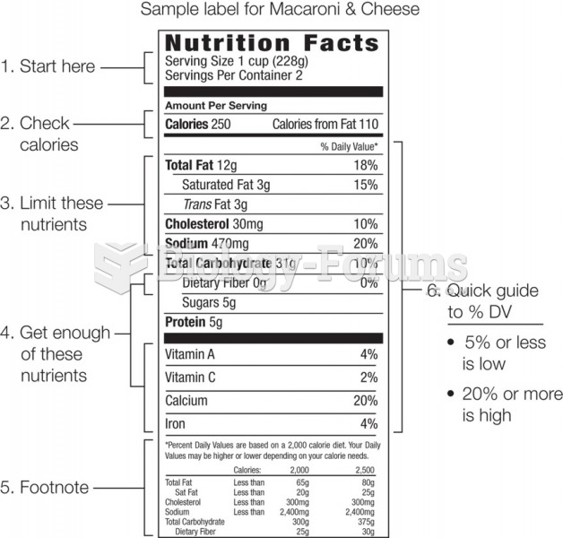 The footnote on a Nutrition Facts label explains the Recommended Daily Values that are the basis of ...