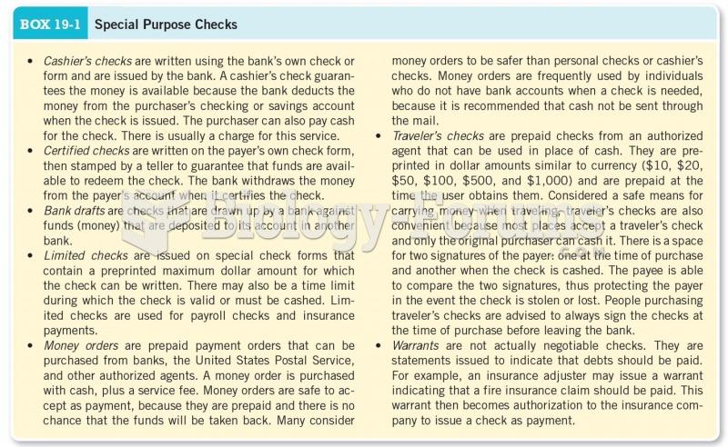 Special Purpose Checks