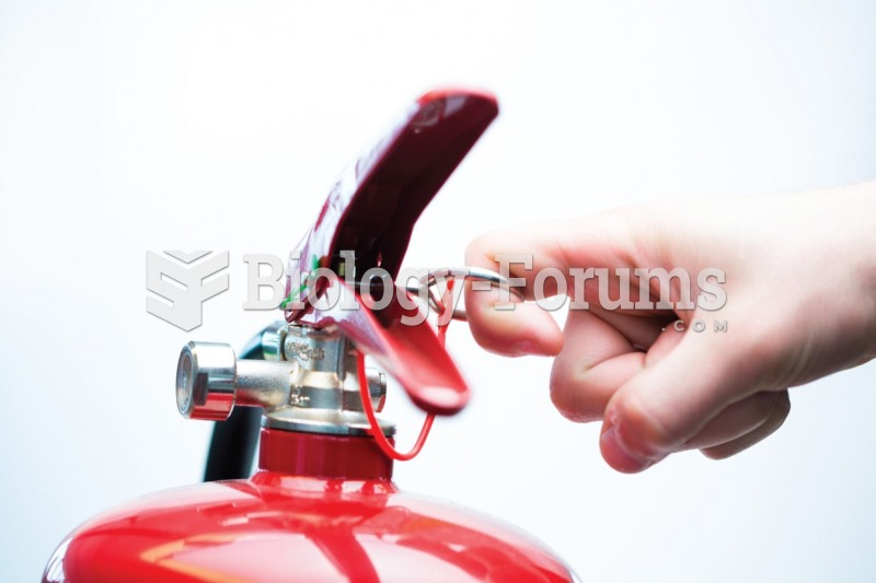 It is important for new employees to know the location of all fire extinguishers. (A) Pull the pin ...