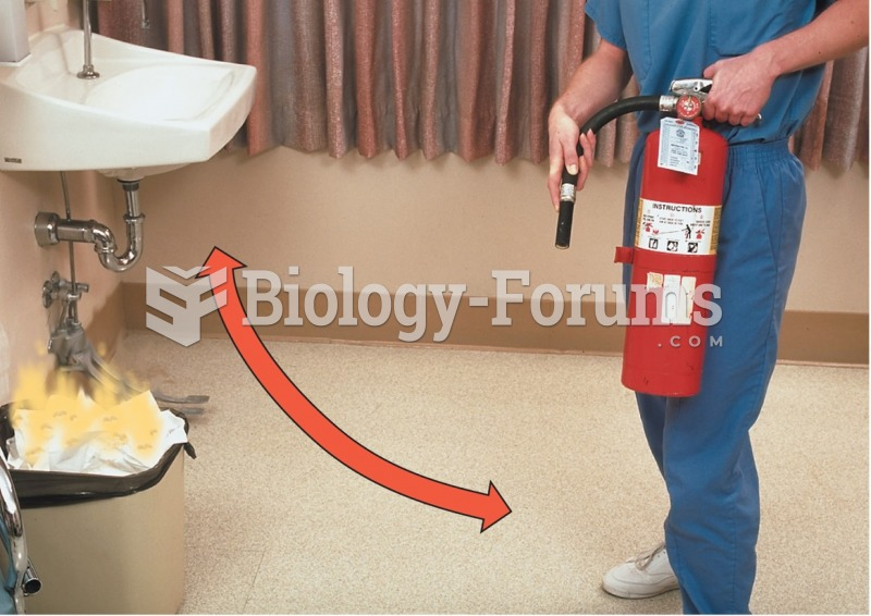It is important for new employees to know the location of all fire extinguishers. (C) Sweep the area ...