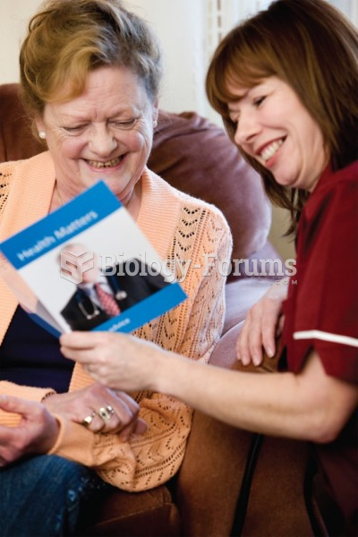 Written materials can be helpful for the older adult.