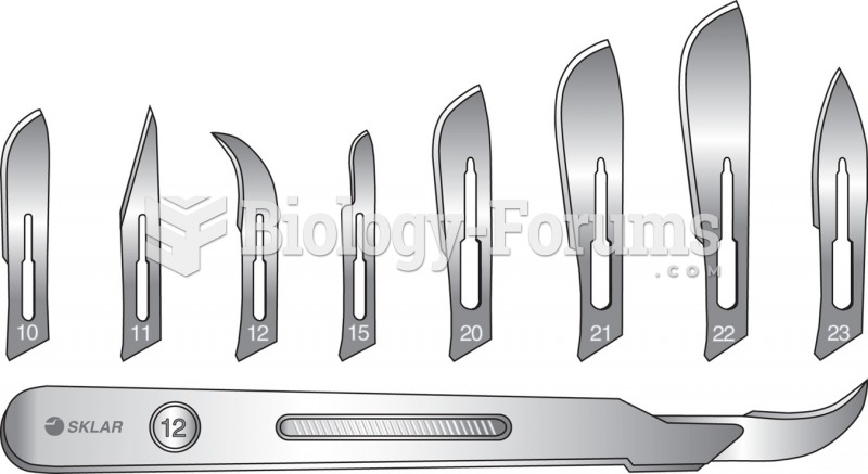 A scalpel and a variety of blades.