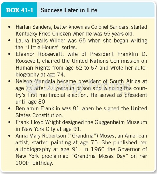 Success Later in Life