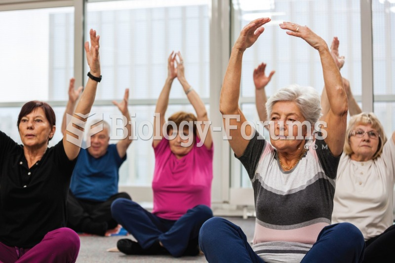 Group fitness activities geared toward senior citizens can improve their physical strength and ...