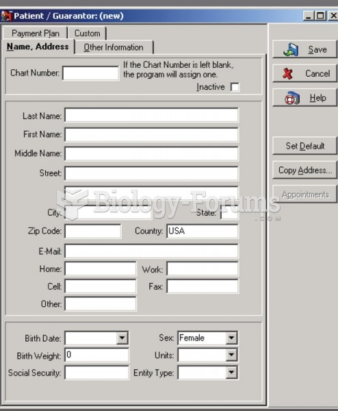A computerized patient registration form used by offices with electronic health records.