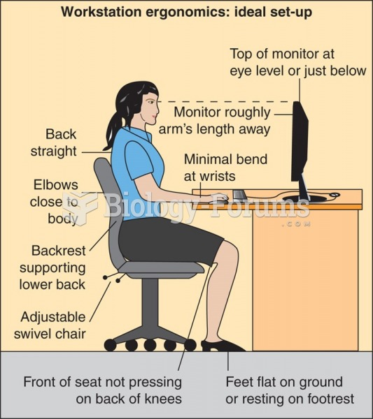 Ergonomically correct desk, chair, and keyboard.
