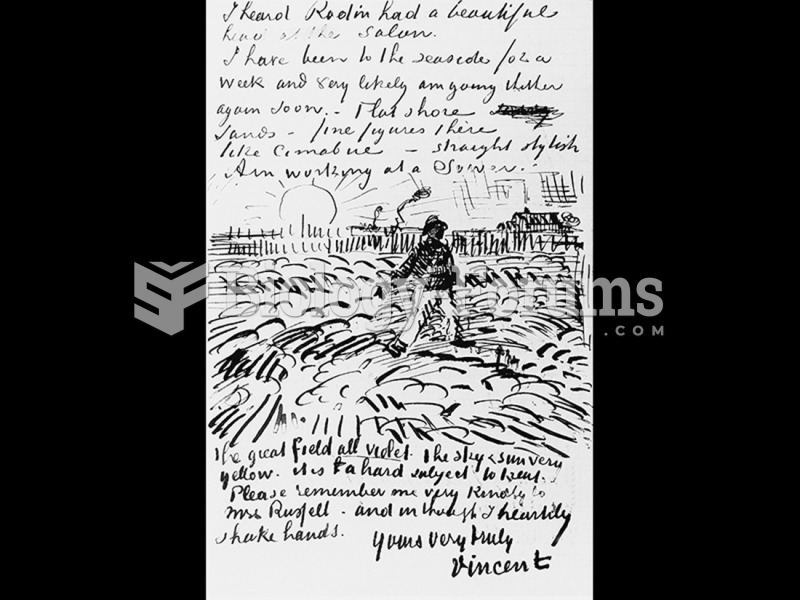 Vincent van Gogh, Letter to John Peter Russell.