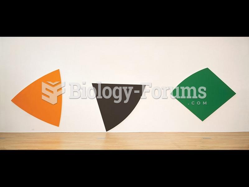 Ellsworth Kelly, Three Panels: Orange, Dark Gray, Green.