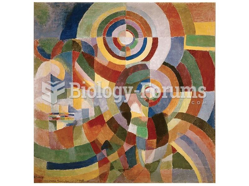 Sonia Delaunay, Prismes Electriques (Electric Prisms).