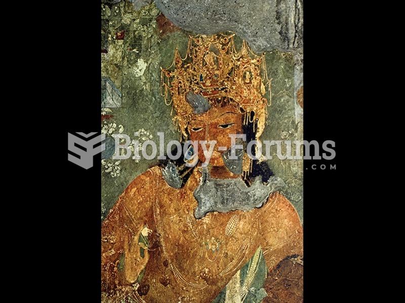 Bodhisattva, detail of a fresco wall painting in Cave I, Ajanta, Maharashtra, India.