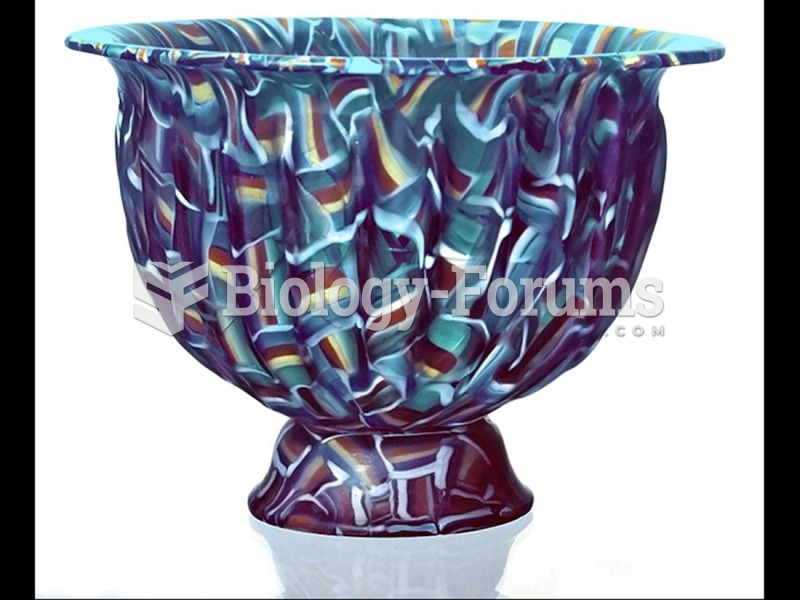 Mosaic glass bowl, fused and slumped, Roman.