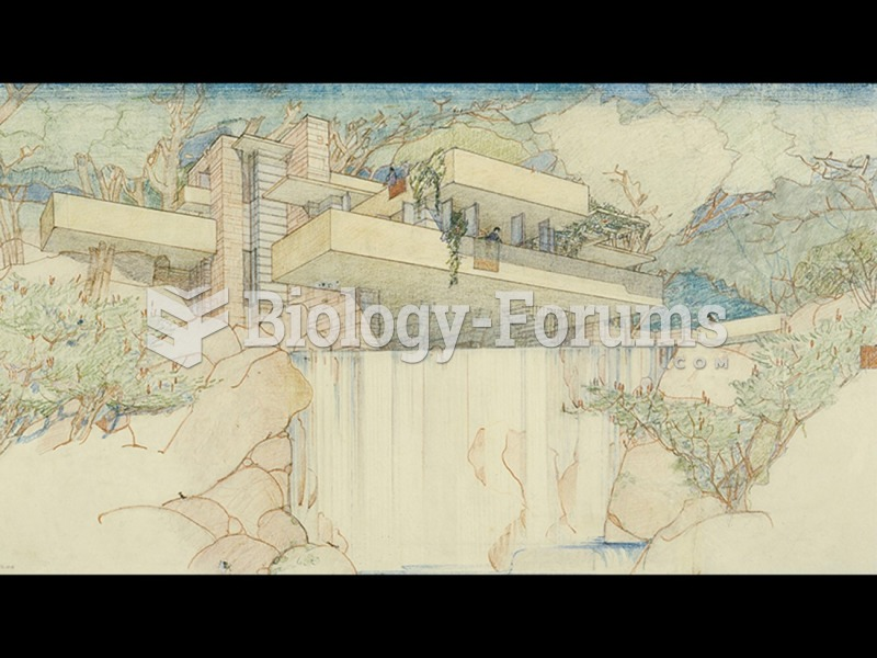 Frank Lloyd Wright, Drawing for Fallingwater, Kaufmann House, Bear Run, Pennsylvania.