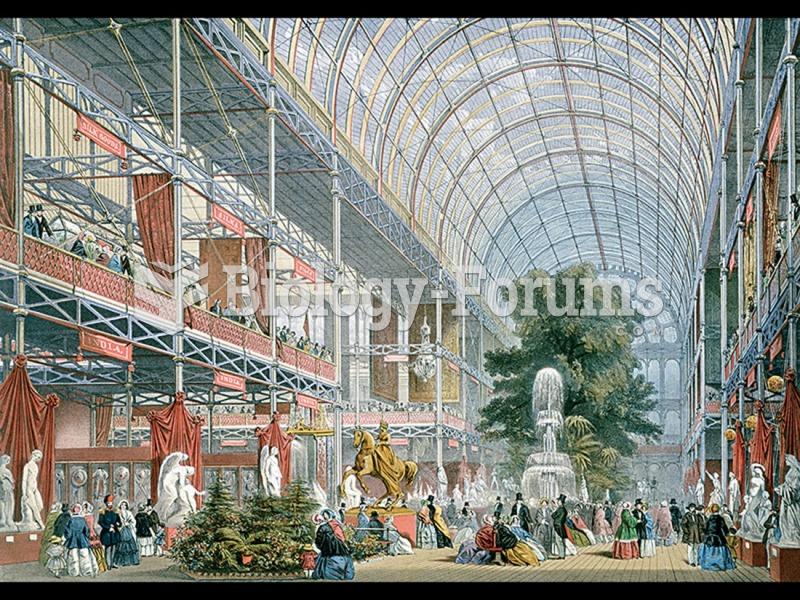 Joseph Paxton, Interior, Crystal Palace, Great Exhibition, London.