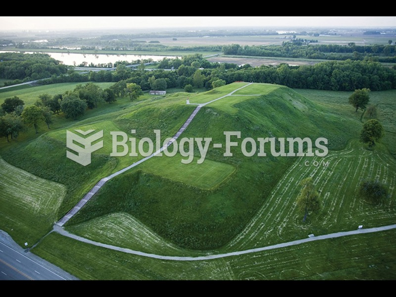 Monks Mound, the centerpiece of Cahokia Mounds State Historic Site, Illinois, Mississippian ...