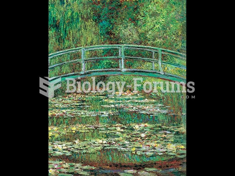 Claude Monet, Bridge over a Pool of Water Lilies.
