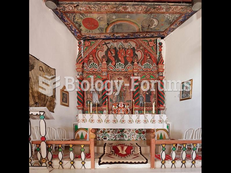 The Laguna Santero, Retablo and high altar of the Church of San José, Old Laguna Pueblo, New ...