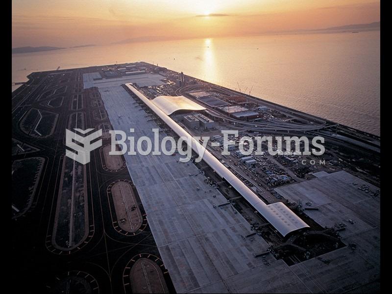 Renzo Piano Building Workshop, Aerial view of Kansai International Airport, Osaka, Japan.