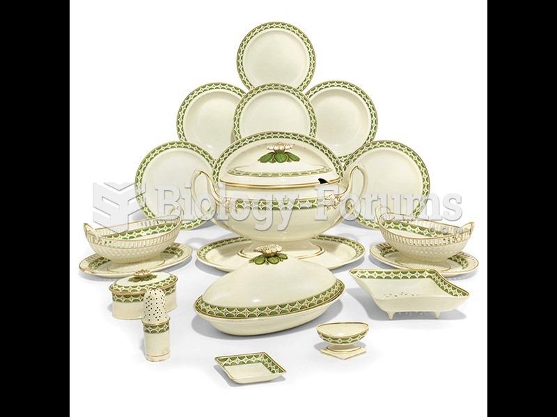 Josiah Wedgwood, Queen's Ware dinner service (detail).