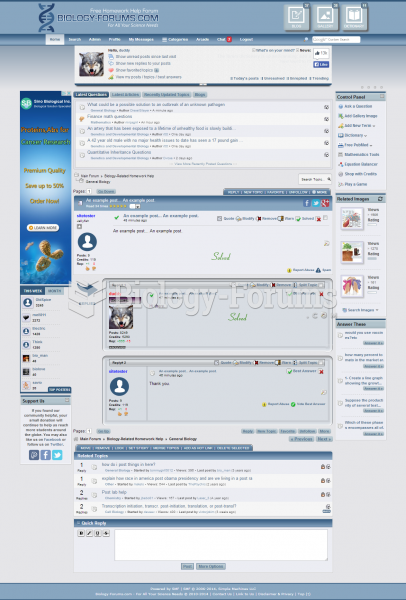 Biology Forums Topic Display (2012 - Late 2014)