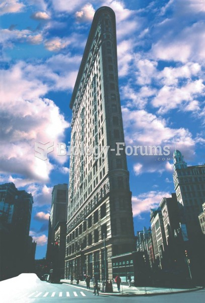 Daniel Burnham's Flatiron Building (1902) was one of the first to use steel girders to hold up the b