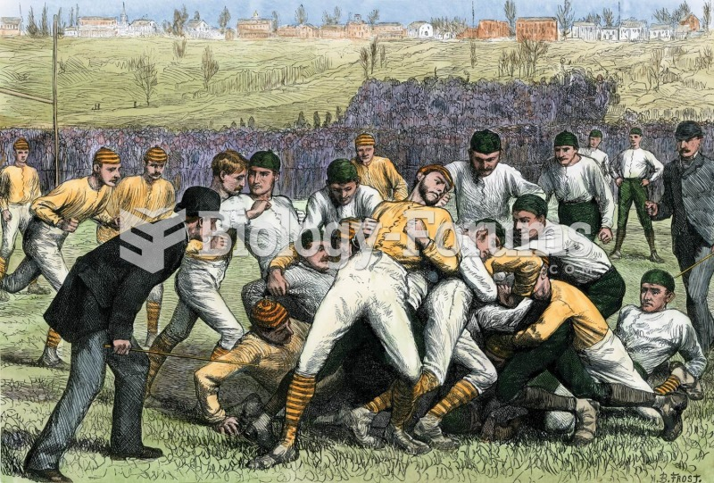 A football game, in 1879, pits Yale against Princeton. The field was not lined or bounded, and play