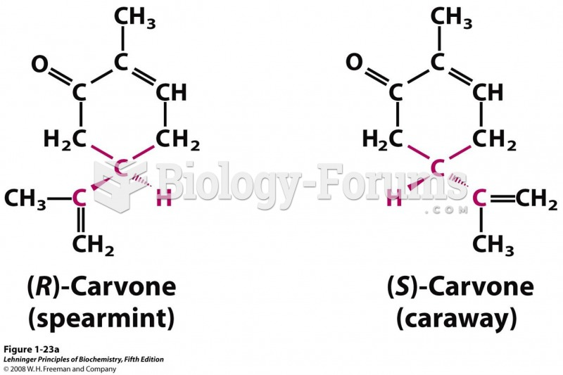 Stereoisomers have different effects in humans