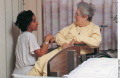 Establishing a caring and trusting relationship helps the client come to terms with a terminal illne