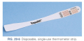 Disposable, single use thermometer strip