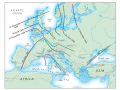 The Black Death spread over much of Europe in a three-year period in the middle of the fourteenth ce