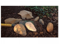 The Acheulean industry is typified by hand axes and cleavers.