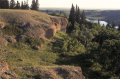 The cypress hills in Alberta and Saskatchewan were the northern-most location that remained south of