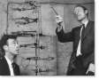 Watson and Crick and their model of the DNA double helix
