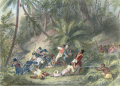 Toussaint L'Ouverture leads a revolt of slaves against the French in Haiti—the first and only major