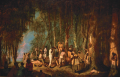 This slave burial service, painted by John Antrobus in 1860, reflects an inversion of power relation