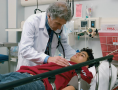An emergency department physician at work