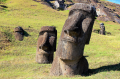 These monolithic figures from Easter Island suggest the contemplative nature of philosophy, which ca